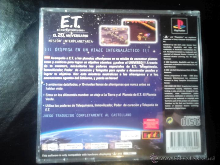 Videojuegos y Consolas: E.T. EL EXTRATERRESTRE (20 aniversario) , Misión Interplanetaria - JUEGO PLAYSTATION 1 y 3 - Foto 2 - 65819434