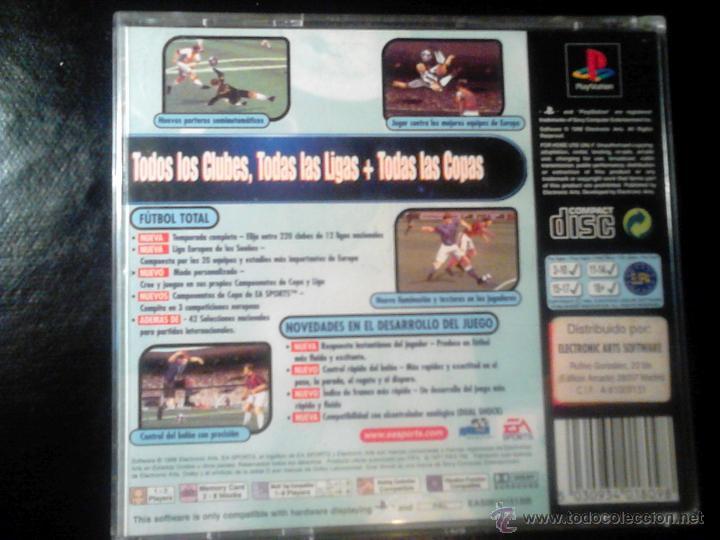 Videojuegos y Consolas: FIFA 99 - EA Sports - JUEGO PLAYSTATION 1 y 3 - Foto 2 - 46676570