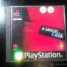 Videojuegos y Consolas: A SANGRE FRÍA - JUEGO PLAYSTATION 1 Y 3 - 2 DISCOS. Lote 46677842