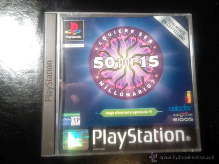 50 POR 15 , ¿ QUIERE SER MILLONARIO ? - JUEGO PLAYSTATION 1 Y 3 (Juguetes - Videojuegos y Consolas - Sony - PS1)