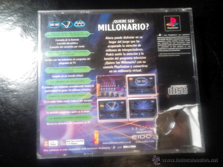 Videojuegos y Consolas: 50 por 15 , ¿ QUIERE SER MILLONARIO ? - JUEGO PLAYSTATION 1 y 3 - Foto 3 - 46677980