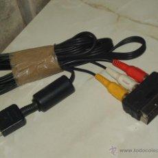 Videojuegos y Consolas: CABLE AV A RCA PARA PLAY STATION ORIGINAL SONY,CON FICHA DE EMPALME DE EUROCONECTOR.. Lote 46853927