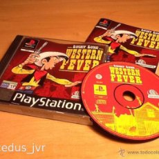 Videojuegos y Consolas: LUCKY LUKE WESTERN FEVER JUEGO PARA SONY PLAY STATION PLAYSTATION 1 PS1 PAL COMPLETO. Lote 103043735