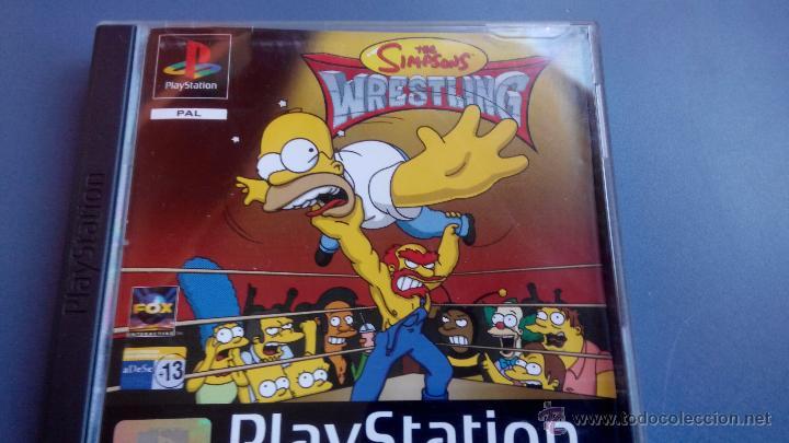 Juego Psx Play 1 The Simpson Wrestling Comprar Videojuegos Y