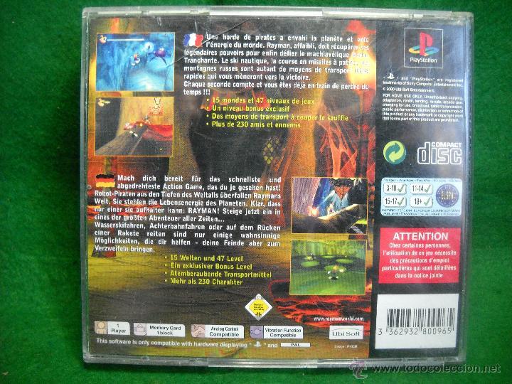 Videojuegos y Consolas: RAYMAN 2 PLAYSTATION 1 PS1 - Foto 2 - 50064324