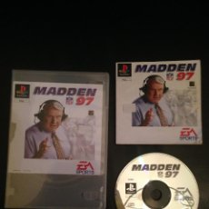 Videojuegos y Consolas: MADDEN NFL 97 SONY PLAYSTATION 1 PLAY STATION PSX COMPLETO . Lote 54622179