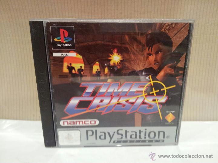 VIDEO JUEGO TIME CRISIS NANCO PLAYSTATION BUEN ESTADO (Juguetes - Videojuegos y Consolas - Sony - PS1)