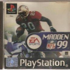 Videojuegos y Consolas: MADDEN NFL 99. PLAYSTATION 1. Lote 55010051