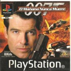 Videojuegos y Consolas: 007 EL MAÑANA NUNCA MUERE. MANUAL DE INSTRUCCIONES PS1. Lote 55047692