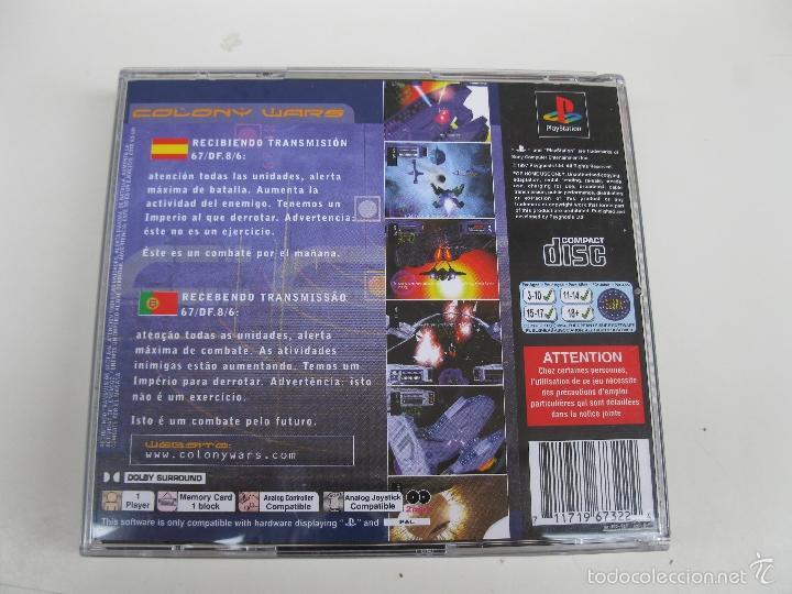 Videojuegos y Consolas: COLONY WARS - JUEGO PARA PLAYSTATION 1 - INCLUYE 2 DISCOS. - Foto 3 - 59149235