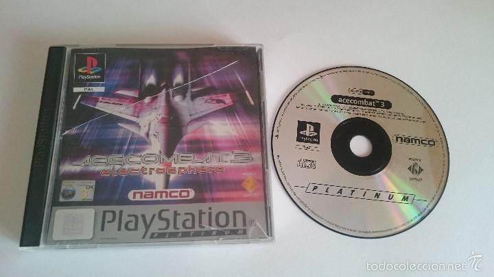 JUEGO ACECOMBAT ACE COMBAT 3 SONY PLAYSTATION PS1 PSX PAL CASTELLANO (Juguetes - Videojuegos y Consolas - Sony - PS1)