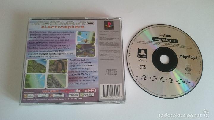 Videojuegos y Consolas: JUEGO ACECOMBAT ACE COMBAT 3 SONY PLAYSTATION PS1 PSX PAL CASTELLANO - Foto 2 - 59470885