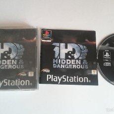 Videojuegos y Consolas: JUEGO HIDDEN AND DANGEROUS SONY PLAYSTATION PS1 PSX PAL CASTELLANO. Lote 59476969