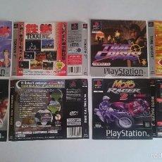 Videojuegos y Consolas: 4 PORTADAS Y CONTRAPORTADAS: TEKKEN 2,TIME CRISIS...PLAYSTATION PS1 ESPAÑA. Lote 59776124