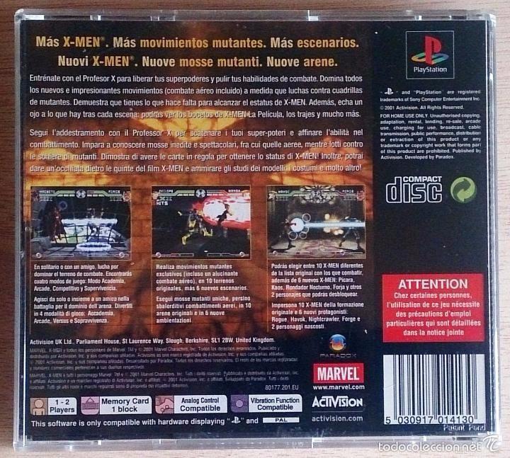 Videojuegos y Consolas: X-Men / Mutant Academy 2 / Juego PlayStation Play Station / PAL / Marvel Activision 2001 - Foto 3 - 60418135