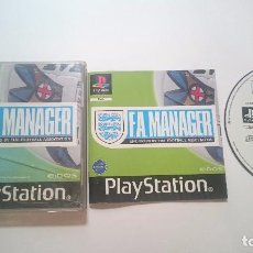 Videojuegos y Consolas: JUEGO COMPLETO F.A. MANAGER FA SONY PLAYSTATION PS1 PSONE PSX PAL UK. Lote 62001740