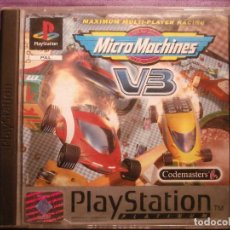 Videojuegos y Consolas: JUEGO PLAYSTATION 1 - PS1 - MICRO MACHINES VB - CODEMASTERS - ORIGINAL COMPLETO -. Lote 62484176