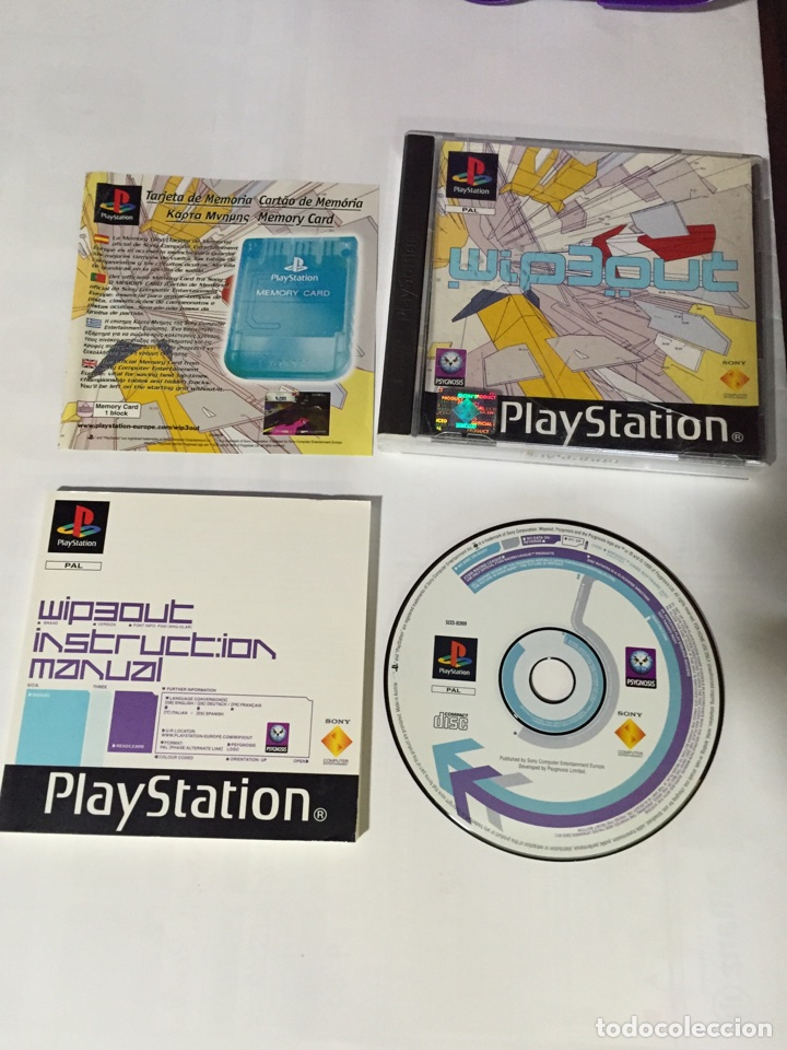 JUEGO WIP3OUT PLAY PLAYSTATION STATION 1 PSX COMPLETO (Juguetes - Videojuegos y Consolas - Sony - PS1)
