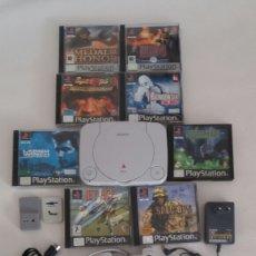 Videojuegos y Consolas: CONSOLA SONY PS ONE , DOS MEMORIAS Y VARIOS JUEGOS Y LIBRO INSTITUCIONES NUEVO. Lote 68655147