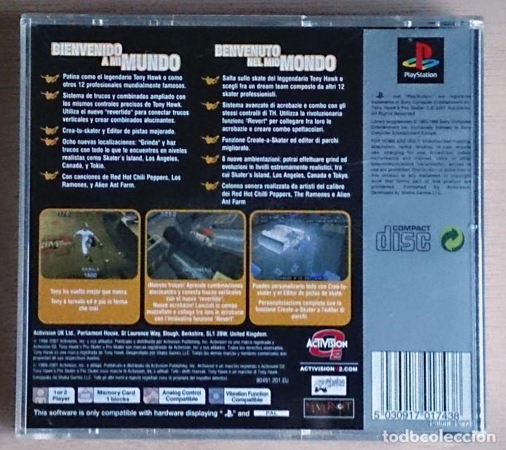 Videojuegos y Consolas: Tony Hawk's Pro Skater 3 / Juego PlayStation Play Station PSone / PAL / Activision 2001 - Foto 3 - 69488197