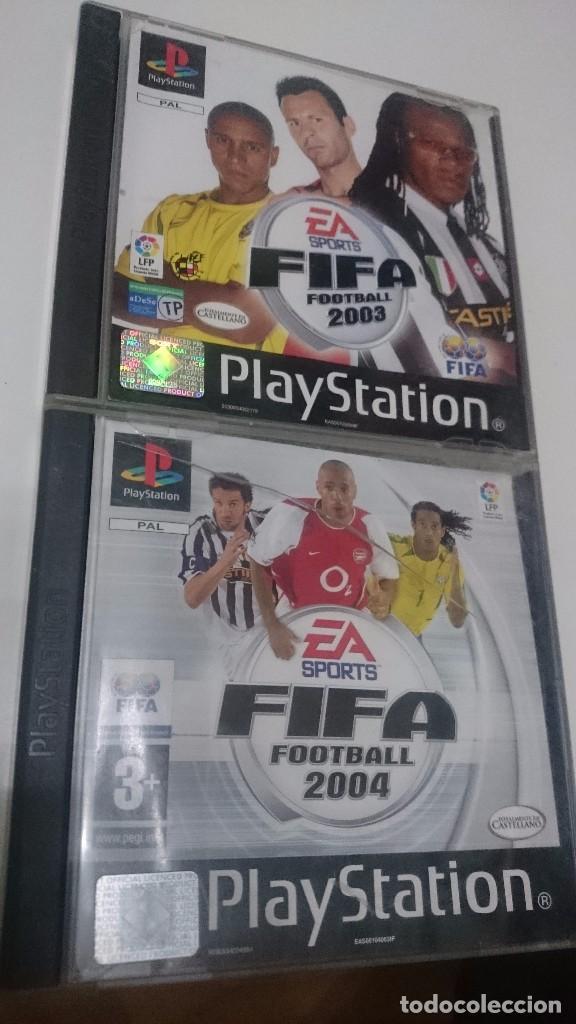 JUEGO PARA CONSOLA PS1-PLAY STATION ONE-FIFA 2003 Y 2004 (Juguetes - Videojuegos y Consolas - Sony - PS1)