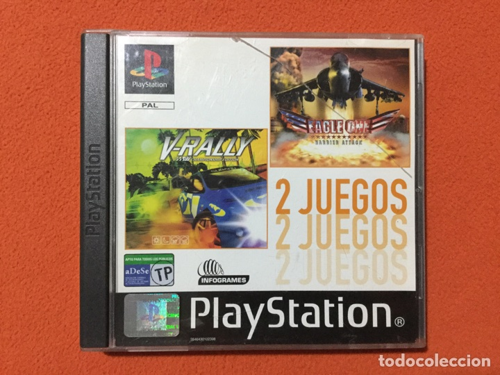 2 JUEGOS PLAYSTATION - V-RALLY + EAGLE ONE - PSX PLAY STATION - SONY PS1 PS ONE (Juguetes - Videojuegos y Consolas - Sony - PS1)