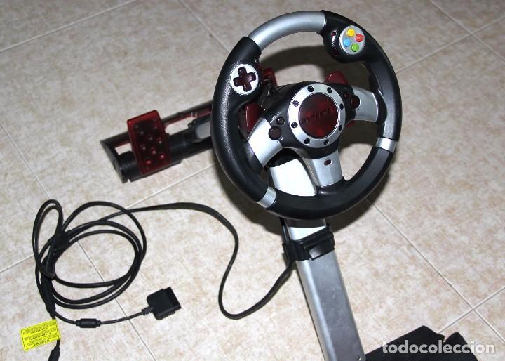 Videojuegos y Consolas: GAMESTER CONSOLA PLAYSTATION PLAY STATION VOLANTE MANDO VIDEOJUEGO - Foto 3 - 78378689