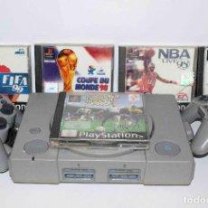 Videojuegos y Consolas: PSX + 5 JUEGOS ISS PRO FIFA 98 NBA 98 COUPE DU MONE 98 FIFA 99. Lote 94177985