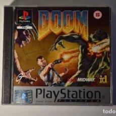 Videojuegos y Consolas: JUEGO SONY PLAYSTATION 1 PSX PS1 DOOM PLATINUM 1995 GT MIDWAY ID SOFTWARE SUBJETIVO SHOOTER. Lote 95759007