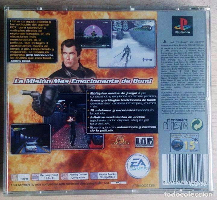 Videojuegos y Consolas: James Bond 007 / El Mañana Nunca Muere / PlayStation Play Station PSone / PAL / Electronic Arts 1999 - Foto 3 - 97791358