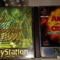 Videojuegos y Consolas: PACK JUEGOS SONY PLAYSTATION 1 ONE PSX LEGACY OF KAIN:SOUL REAVER + JUNGLA DE CRISTAL TRILOGIA. Lote 97719839