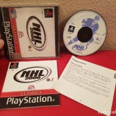 Videojuegos y Consolas: JUEGO PLAYSTATION 1 PS1 PSX NHL 2000 HOCKEY HIELO VIDEOJUEGO CONSOLA CON CATALOGO. Lote 98404299