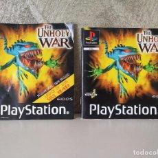 Videojuegos y Consolas: INSTRUCCIONES Y CARÁTULA THE UNHOLY WAR PS1 PSX. Lote 99834103