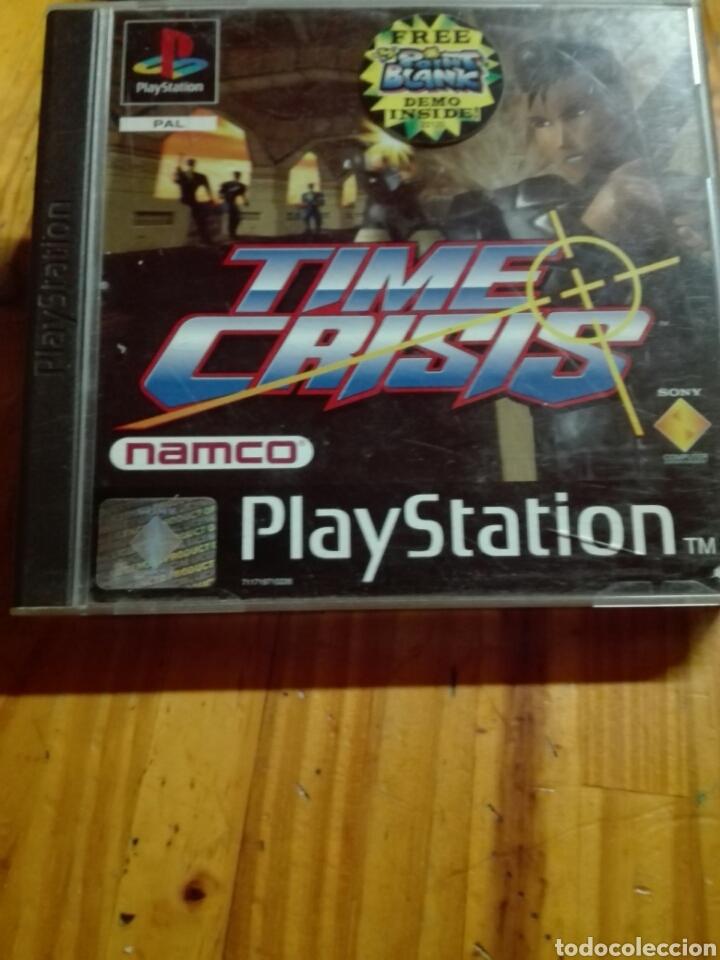 TIME CRISIS + DEMO POINT BLANK (Juguetes - Videojuegos y Consolas - Sony - PS1)