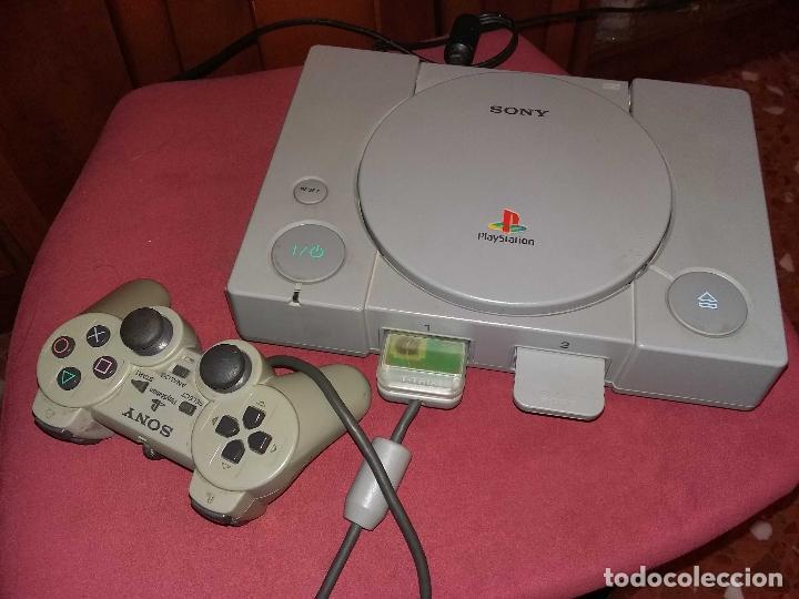 PS10001 - SONY PS1 FUNCIONANDO + MANDO + MEMORICARD, SIN CABLE DE TV (Juguetes - Videojuegos y Consolas - Sony - PS1)