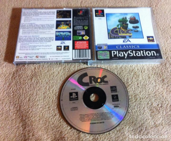 CROC LEGEND OF THE GOBBOS PSX SONY PLAYSTATION 1 PLAY STATION ONE KREATEN (Juguetes - Videojuegos y Consolas - Sony - PS1)