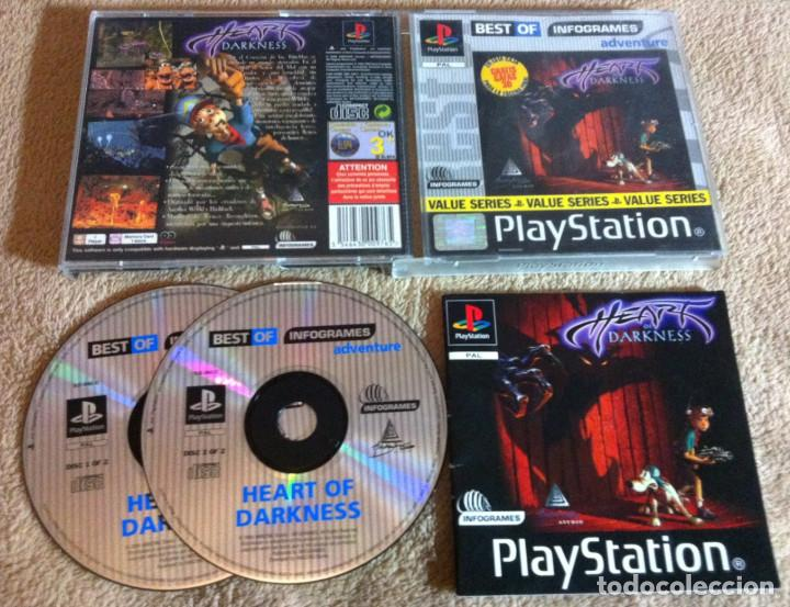 HEART OF DARKNESS PSX SONY PLAYSTATION 1 PLAY STATION ONE KREATEN (Juguetes - Videojuegos y Consolas - Sony - PS1)