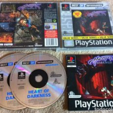 Videojuegos y Consolas: HEART OF DARKNESS PSX SONY PLAYSTATION 1 PLAY STATION ONE KREATEN. Lote 103339867