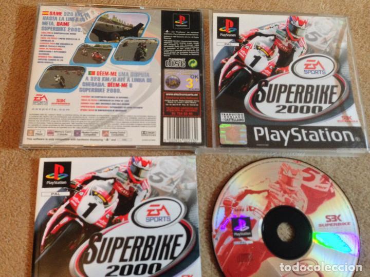 SUPERBIKE 2000 SUPER BIKE EA SPORTS DOBLADO AL CASTELLANO PSX PS1 PLAYSTATION 1 KREATEN (Juguetes - Videojuegos y Consolas - Sony - PS1)