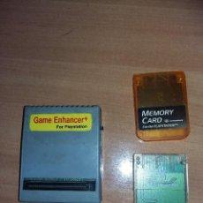 Videojuegos y Consolas: PS10003- GAME ENHANCER PLUS + 2 MEMORI CARD. Lote 109042167
