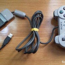 Videojuegos y Consolas: MANDO PLAY STATION ORIGINAL CON ADAPTADOR USB. Lote 109888939