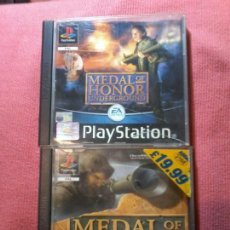 Videojuegos y Consolas: MEDAL OF HONOR - PACK 2 JUEGOS - PLAYSTATION 1 - 2 DISCOS PAL UK. Lote 112024431