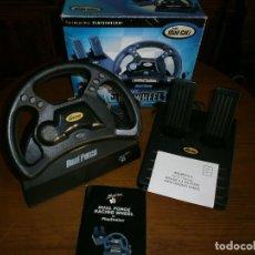 Videojuegos y Consolas: MAD CATZ DUAL FORCE RACING WHEEL FOR PLAYSTATION + REALPLAY RACING PARA PLAYSTATION 2 - 1998.. Lote 112034715