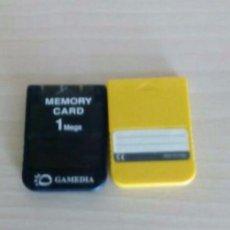 Videojuegos y Consolas: 2 MEMORY CARD PLAYSTATION 1. Lote 112083807