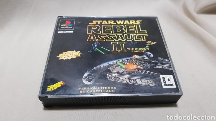 STAR WARS REBEL ASSAULT II THE HIDDEN EMPIRE PLAYSTATION . EDICION MEJORADA , VERSION EN CASTELLANO (Juguetes - Videojuegos y Consolas - Sony - PS1)