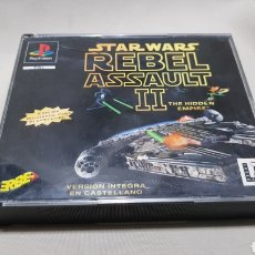 Videojuegos y Consolas: STAR WARS REBEL ASSAULT II THE HIDDEN EMPIRE PLAYSTATION . EDICION MEJORADA , VERSION EN CASTELLANO. Lote 129606892