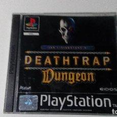 Videojogos e Consolas: DEATHTRAP DUNGEON JUEGOS PS1 PSX PLAYSTATION 1 PLAY STATION PAL ALEMAN. Lote 117524343