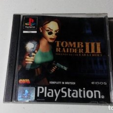 Videojuegos y Consolas: TOMB RAIDER 3 III JUEGOS PS1 PSX PLAYSTATION 1 PLAY STATION ONE PAL ALEMAN. Lote 115631287