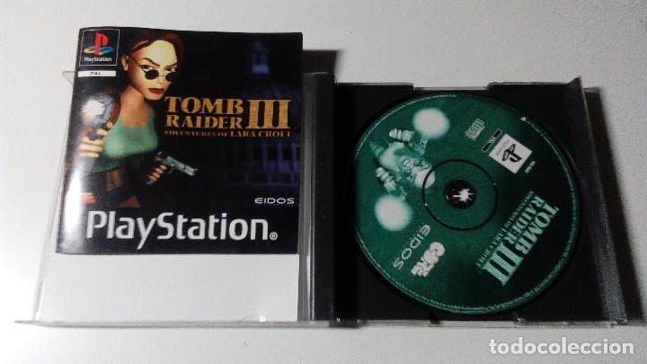 Videojuegos y Consolas: TOMB RAIDER 3 III JUEGOS PS1 PSX PLAYSTATION 1 PLAY STATION ONE PAL ALEMAN - Foto 2 - 115631287