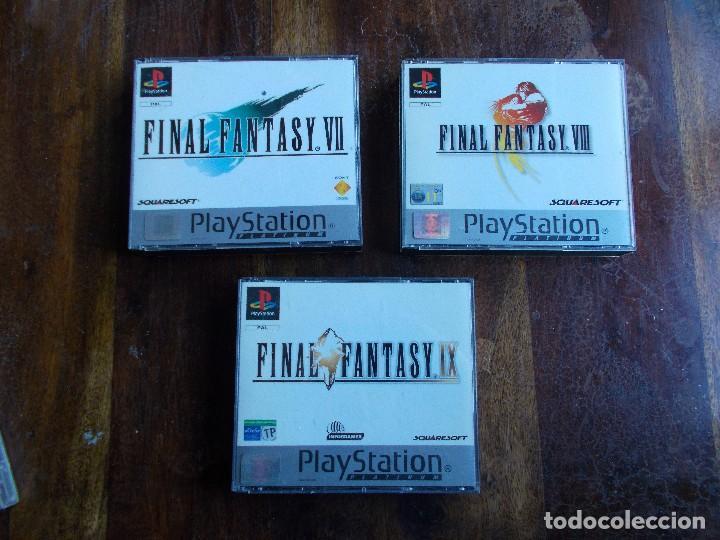 JUEGOS PS1 FINAL FANTASY VII, FINAL FANTASY VIII Y FINAL FANTASY IX COMPLETOS (Juguetes - Videojuegos y Consolas - Sony - PS1)
